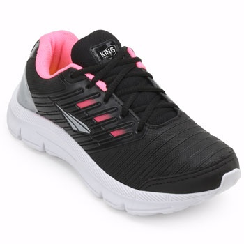 Tênis King Trainer SO19-UA300 Preto-Rosa TAM 40 ao 44