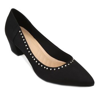 Scarpin Lady Queen AM18-41009-1150030 Suede-Preto TAM 40 ao 44