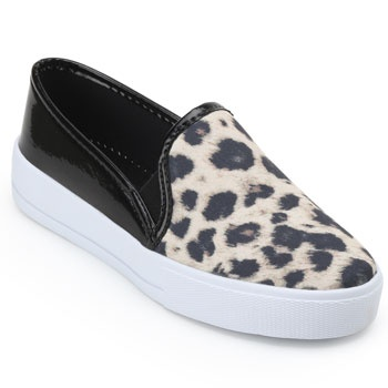 Slip On Laura Lívia LU19-63411 Bege-Preto-Branco