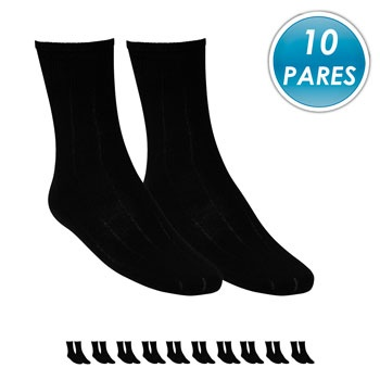 Kit 10 Pares Meia Social Top Fill Poliamida TF19 Preto