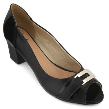 Peep Toe Lady Queen AM18-5504 Preto TAM 40 ao 44